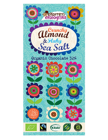 Choklad Almond & SeaSalt 85g, ekologisk & fairtrade - Ekorrens Ekologiska